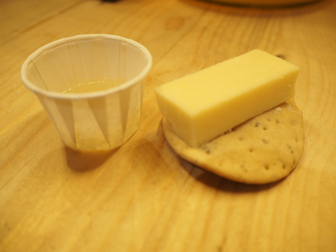 Perry with Godminster Vintage Cheddar
