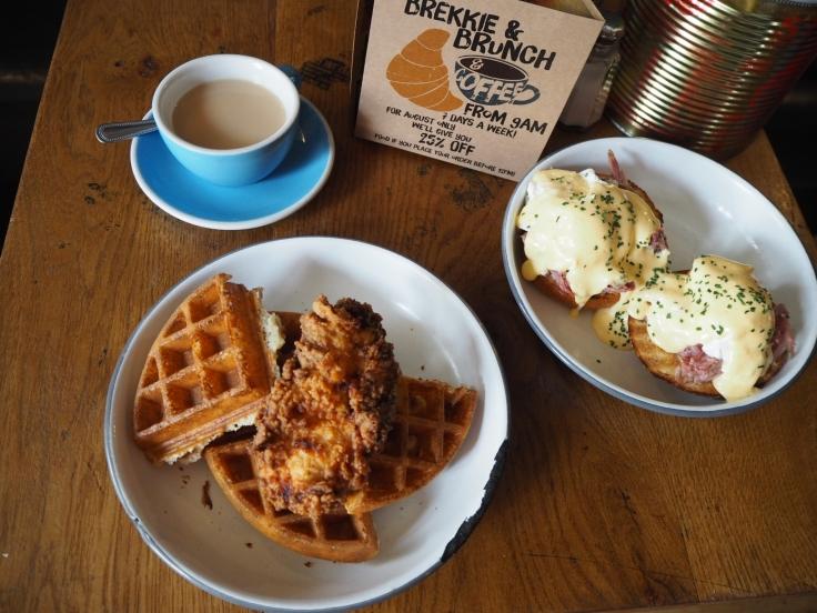 Chicken & Waffles / Eggs Benny